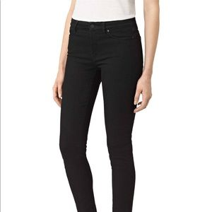 ALL SAINTS | Mast Black Jeans Skinny Frayed Sz 27
